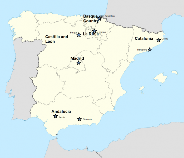Basque Map Of Spain.Lo Mejor Of Spain Picking The Perfect Region Cyclomundo