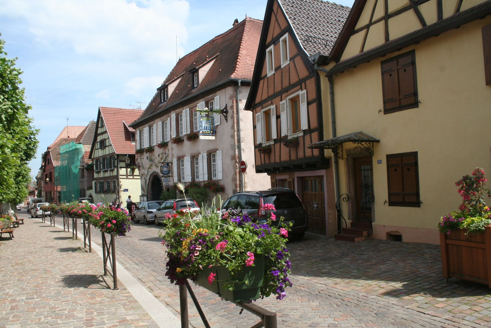 Half-timbered buildings in Alsace