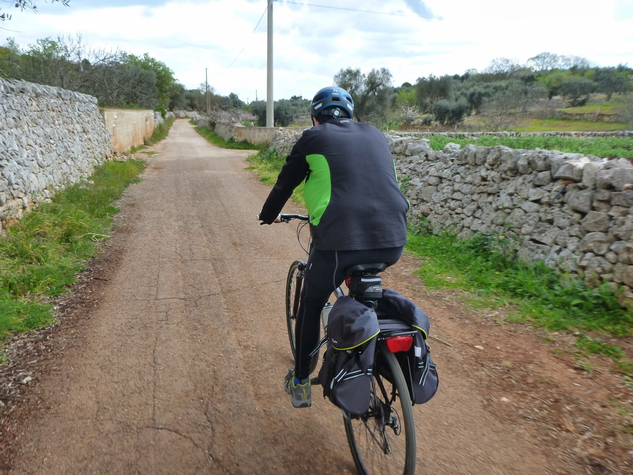 Cycling on a quiet road in Apulia