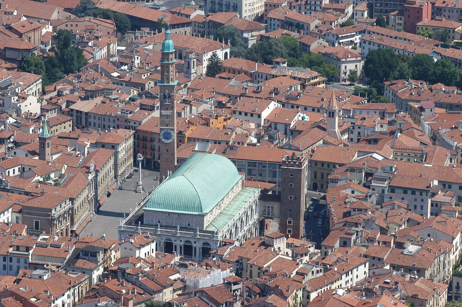 The rooftops of Vicenza