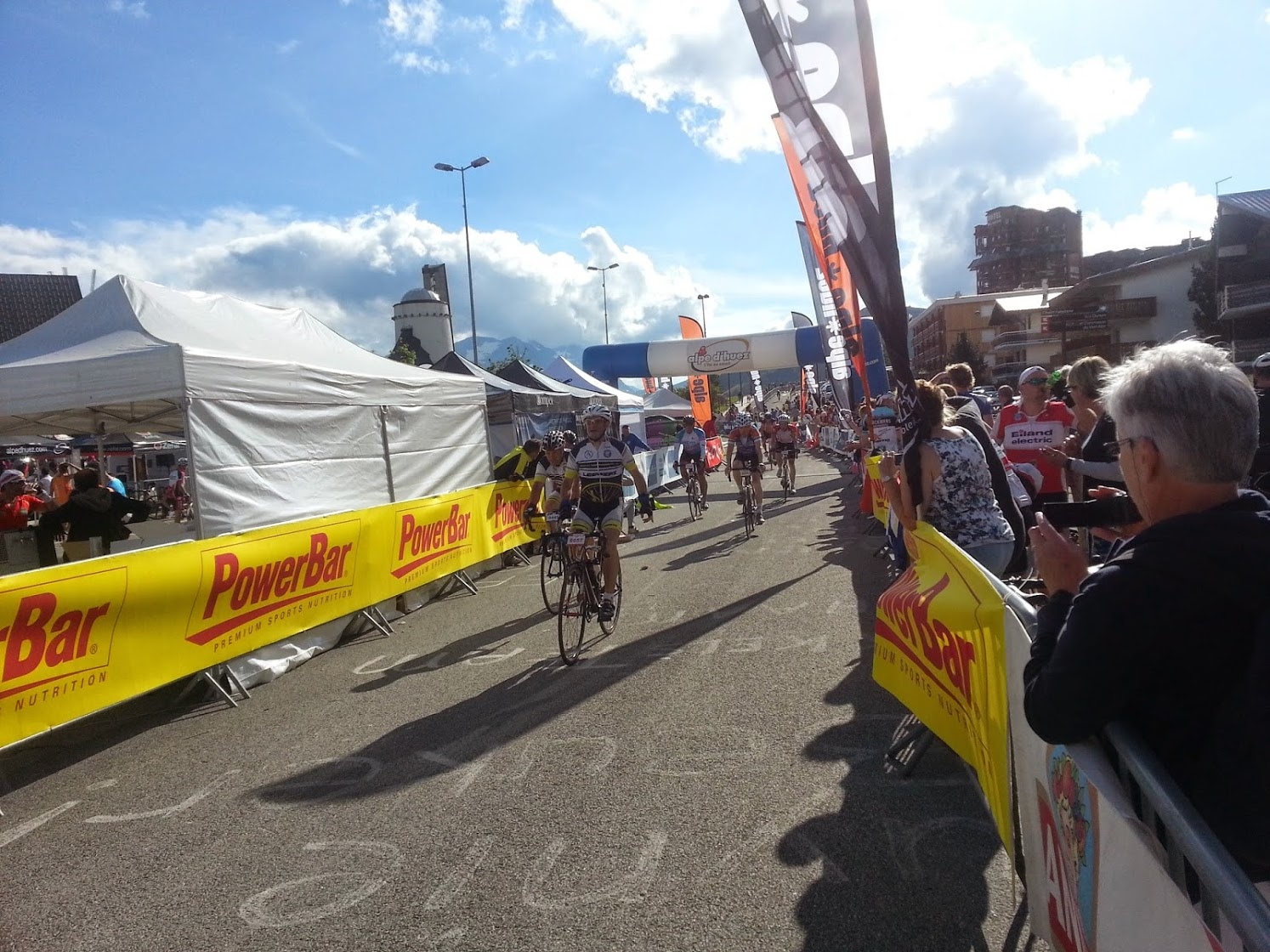 Finish line at La Marmotte