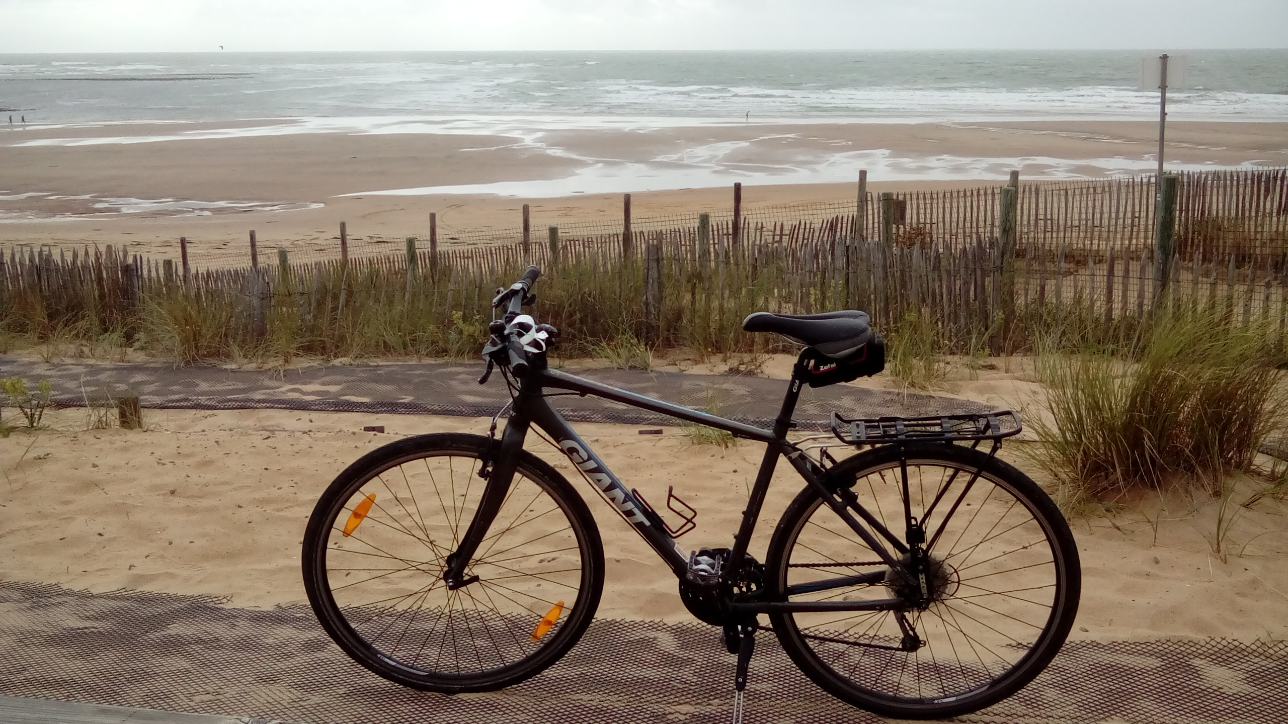 Hybrid bike at the beach
