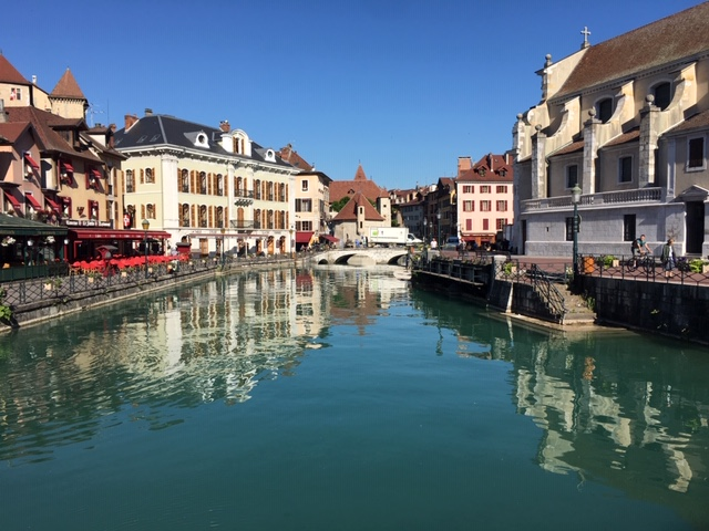 A romantic canal in Annecy, France