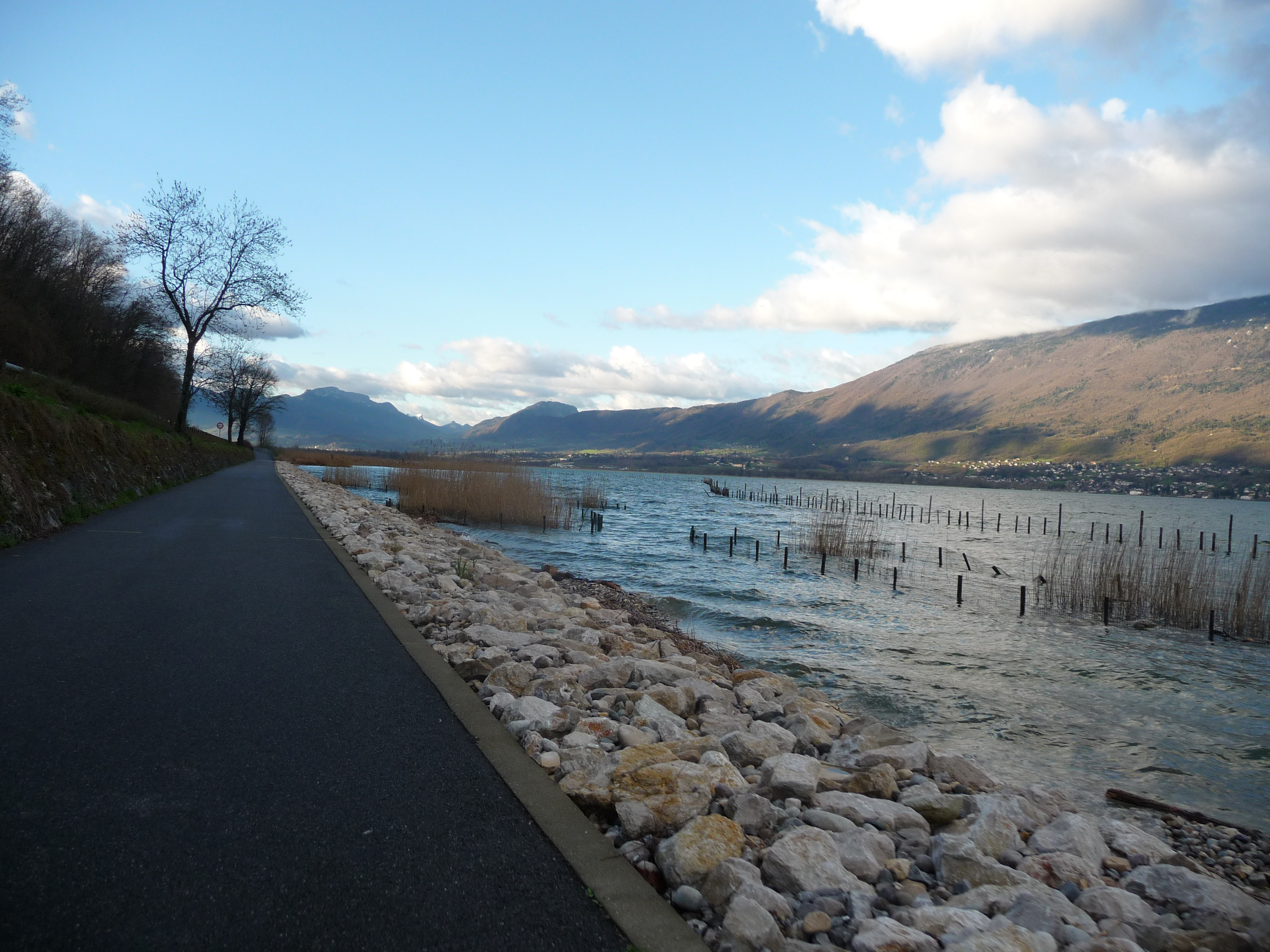 Cycling path along Lake Bourget