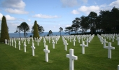 The Normandy American Cemetery and memorial in Colleville  sur Mer