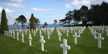 The american cemetery and the memorial in Colleville sur Mer