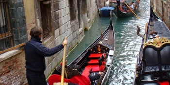 Trade your bike for a tour in one of Venetian's gondolas