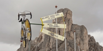 You will climb the passo giau and see this exposition at the top
