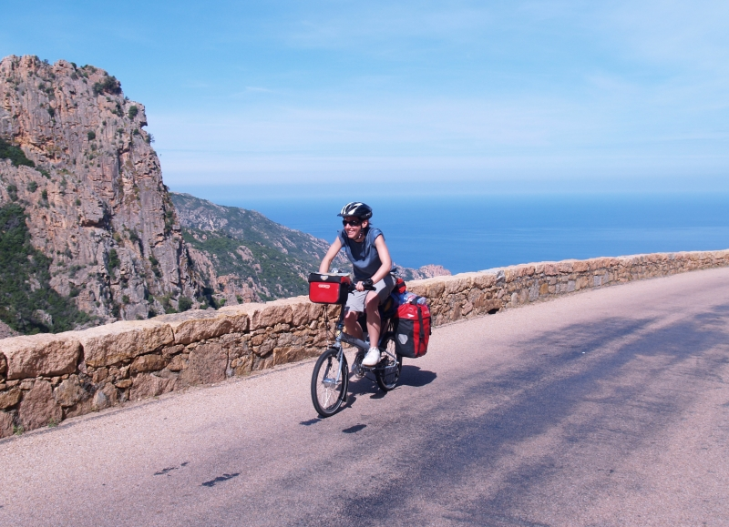Cycling on the west coast of corsica through the calanques de Piana