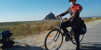 Cycle on quiet roads and bikeways to the Mont Saint Michel