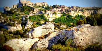 Les Baux de Provence in the Alpilles, classified as one of the most beautiful villages in France