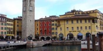 This cycling tour passes by Riva Del Garda on the Lake Garda