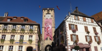 The charming village of Ribeauville is on the itinerary of this bike tour