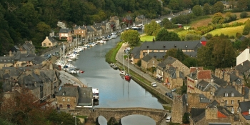 The charming little harbour of Dinan