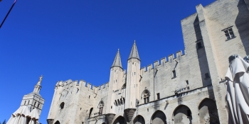 Avignon is the starting point of our bike tour