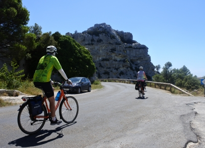 The Alpilles is a regional park in Provence offering a pleasant cycling terrain