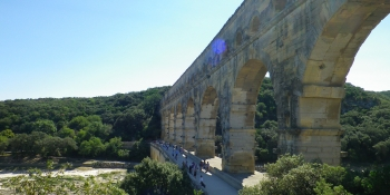 Pont du Gard in Provence, a UNESCO world heritage site