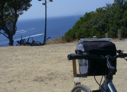 Admire the mediterranean sea from the seat of your bike