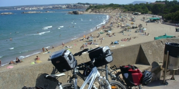 Leave your bikes for a swim in the sea on this cycling tour!