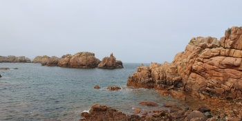 A view of the Pink granite coast next to Ploumanac'h