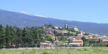 Bédoin, a typical village at the foot of the Mont Ventoux