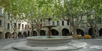 Uzes, a small town of Provence