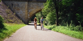 Cycling at your own pace on quiet roads on a self-guided tour