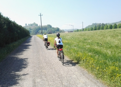The diversity of landscapes on easy terrain is a highlight of thsi cycling tour