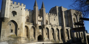 The famous Palace of the Popes of Avignon, starting point of most of our Provence bike tours
