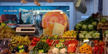 Don't miss the Italian market with its magnificent colors