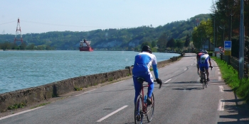 Biking along the Normandy coast on quiet roads