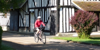 Cycling through little villages with half-timbered houses