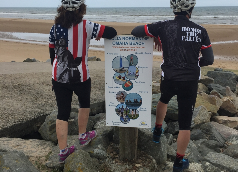 This bike tour goes along the D-Day  landing beaches, such as Omaha beach
