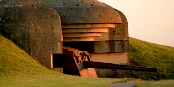 Cycle along the D-Day landing beaches and next to German guns in Longues-sur-Mer