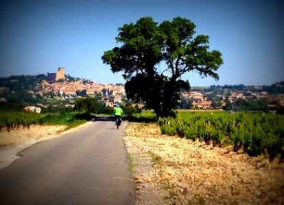 Riding through authentic villages in the colorful Provence