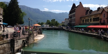 Wandering along the canals in the old town of Annecy