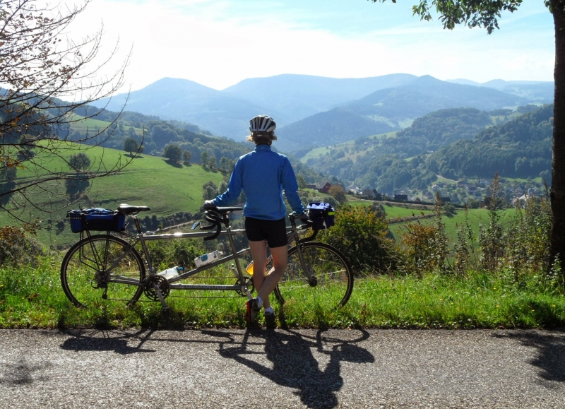 Visually stunning Alsatian landscape from your bike