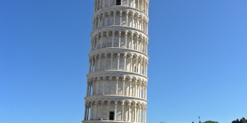 Admire the tilted tower of Pisa