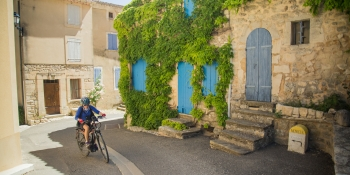 Riding through typical villages of Provence