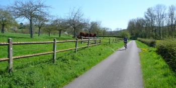This cycling tour follows the veloscenic bikeway through farmlands of Normandy
