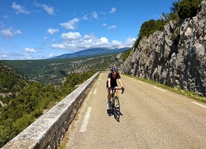 Instead of cycling up Mont Ventoux, you can choose to ride the Gorges de la Nesque to Sault