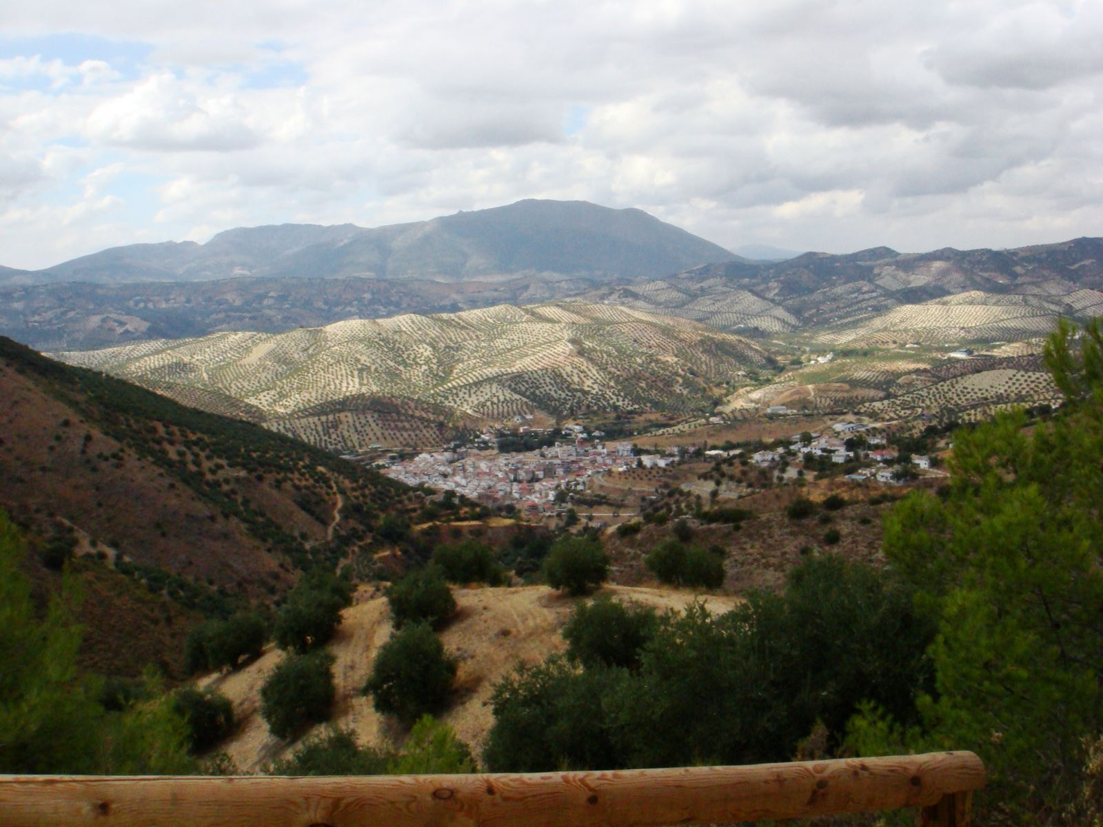 Typical village in hilly Andalusia