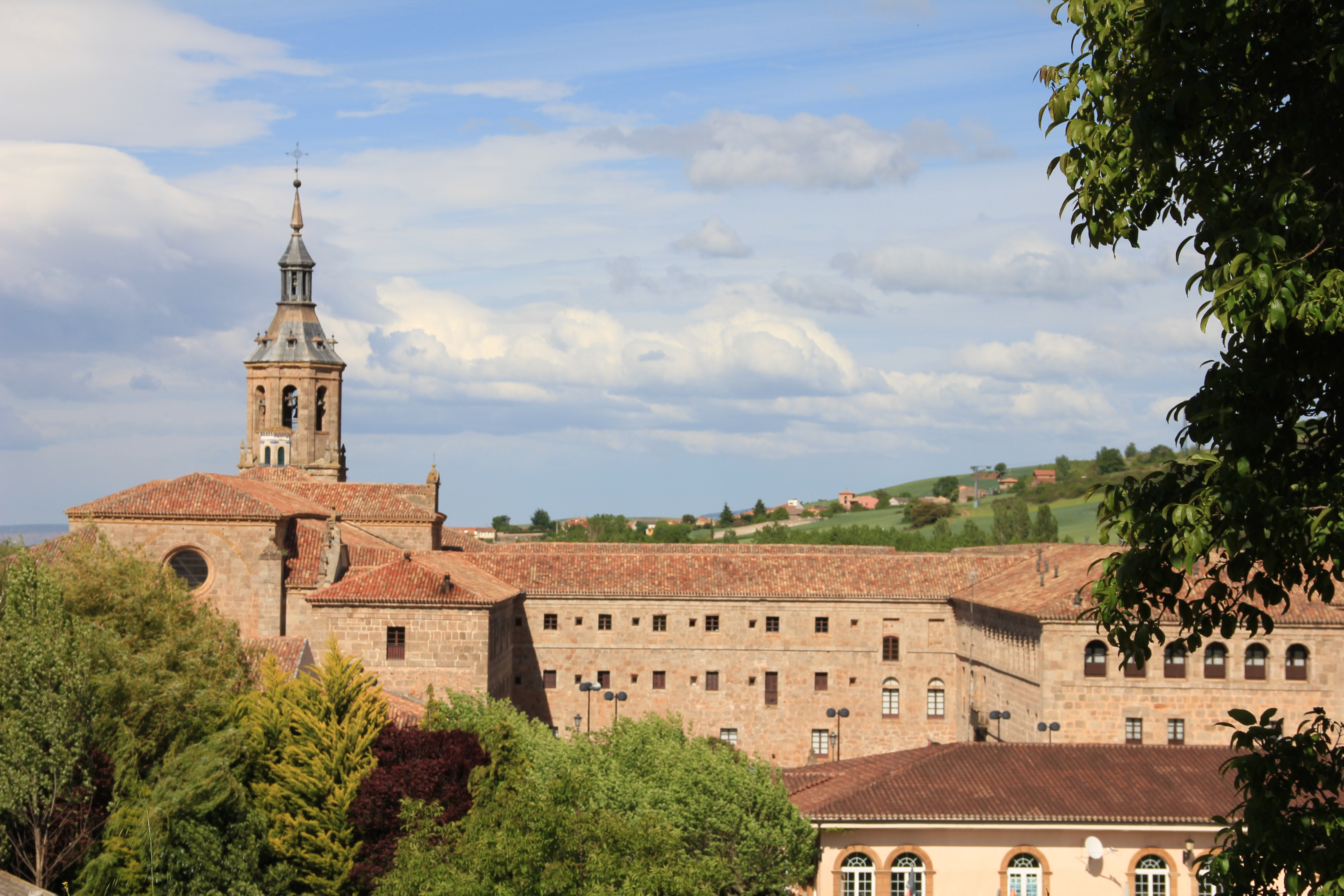 Cycle past the Yuso monastery in San Millan de la Cogolla