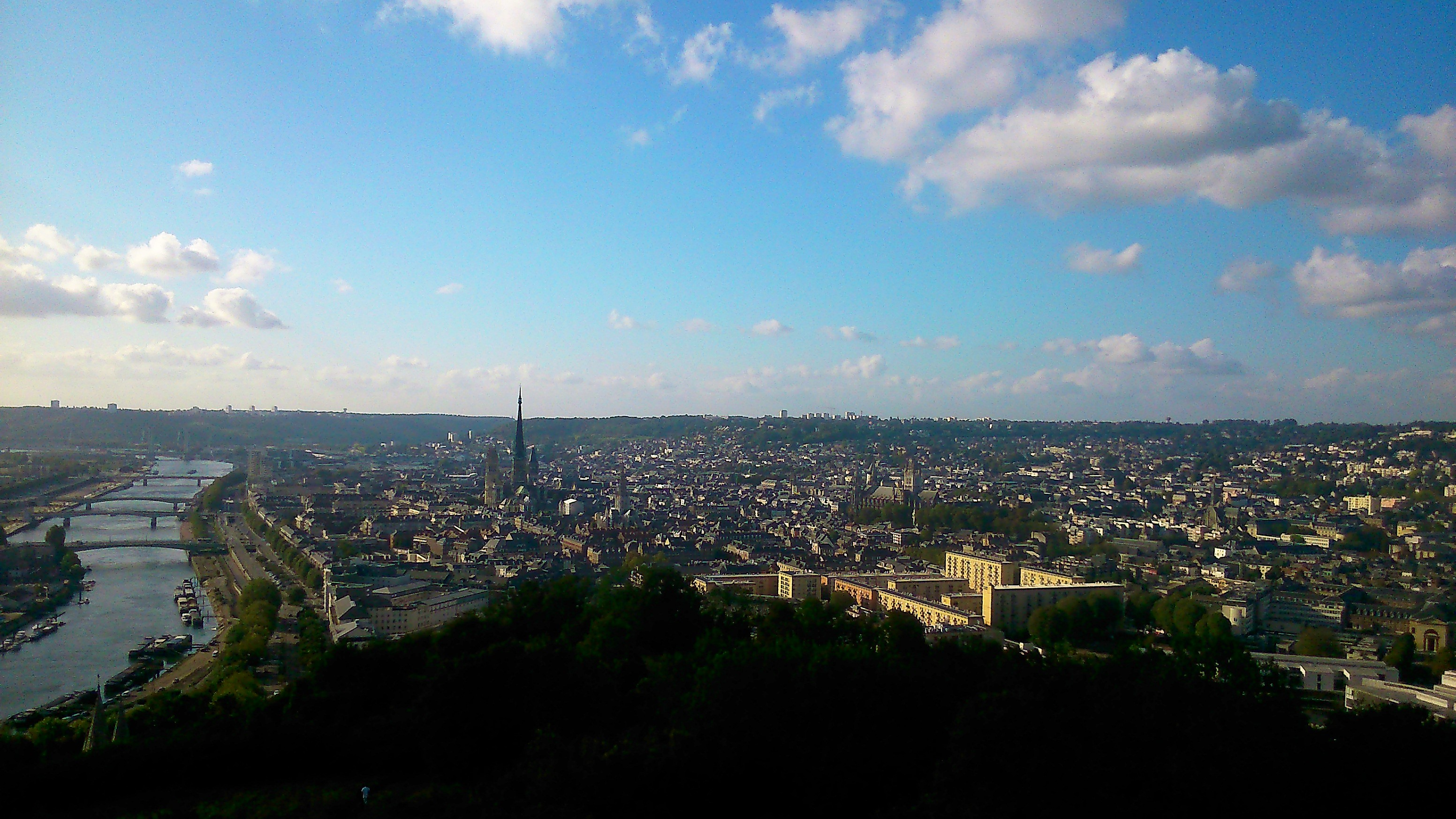 A panorama view of the city of Rouen in Normandy