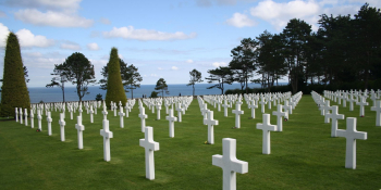 The amercian cemetery in normandy and the memorial in Colleville sur Mer