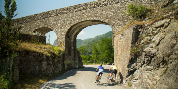 Riding down small and quiet roads of Provence