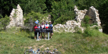 Col de l'Homme Mort, near Sault. We organise this cycling tour for groups on a guided basis