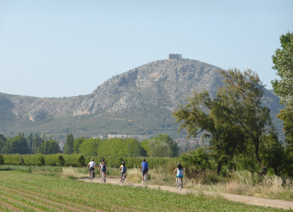 Massis de Montgri will be in sight on your cycling tour