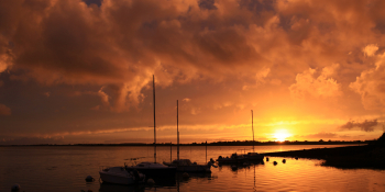 Enjoy the magnificent sunset on the Brittany Islands