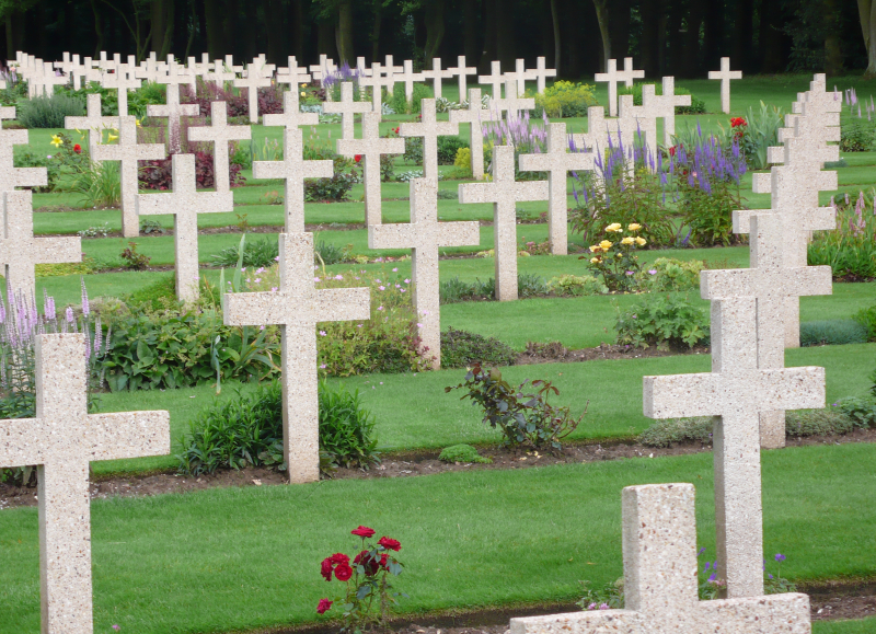 One of the many cemeteries you'll see along WWI's Western Front